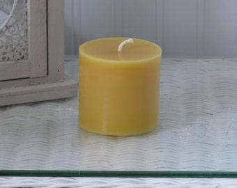 """Beeswax 3"""" Pillar Candle"""