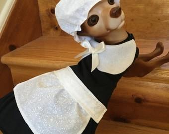 Pilgrim Girl Dog costume by FiercePetFashion