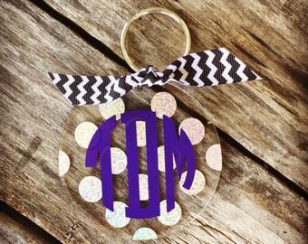 Monogram Keychain, Personalized Keychain, Custom Keychain, Luggage Tag, Monogram Luggage Tag, Personalized Luggage Tag,  Sweet 16 Gift