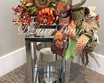 Fall Thanksgiving Lantern Swag