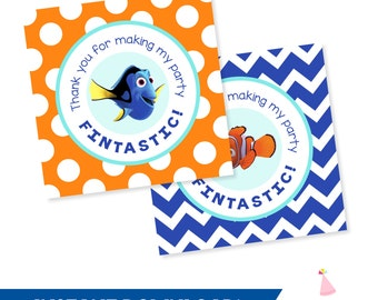 Finding Dory Party Favors - Finding Nemo Party Favor Tags - Finding Dory Birthday - Finding Nemo Birthday INSTANT DOWNLOAD