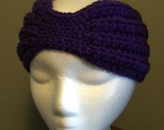 Child Earwarmer crocheted in purple