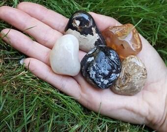 Protection Against Negativity and Restoring Spiritual Energy Crystal Gemstone Set/Base and Root Chakra/Healing Crystals/Pagan Supplies
