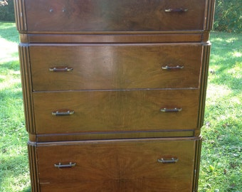 paint to order 1940u0027s art deco dresser custom painted tallboy dresser 5 drawer dresser - Painted Dressers