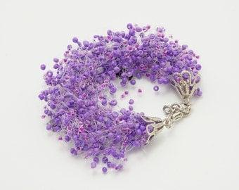 Gift/for/mom Amethyst Jewelry purple bracelet beaded bracelet for mom amethyst bracelet Violet bracelet purple bridesmaid gift gypsy jewelry