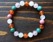 Fertility Bracelet, Healing Bracelet, Fertility Jewelry, Crystal Healing Jewelry, Yoga Jewelry, Moonstone, Carnelian, Rose Quartz, Rhodonite