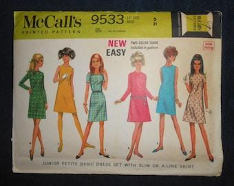 McCalls Sewing Pattern #9533- Size 5 JP