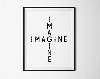Imagine John Lennon, Imagine, John Lennon Imagine, Beatles, Imagine print, Imagine art, Imagine poster, Boho print, Boho printables