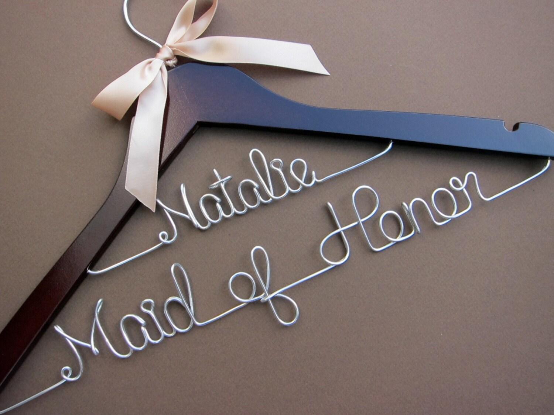 Personalized wedding dress hanger bridal hanger bridal for Custom hangers for wedding dress