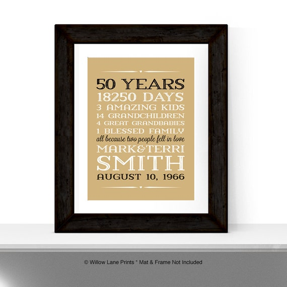 50th anniversary gift for parents anniversary gift 50 year for Gifts for parents on anniversary