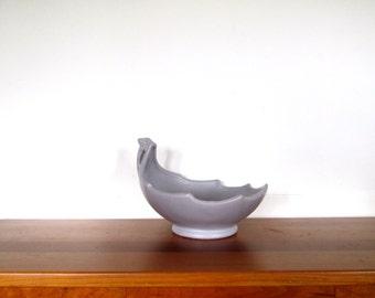 McCoy Lavender Leaf Centerpiece Bowl
