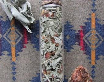 White Sage, Piñon Pine Resin, Loose Incense Blend, Loose White Sage, Pine Resin, Natural Incense, Smudging Herbs, Smudging Herb Blend