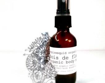Neroli & Sandalwood Organic Body Spray | Natural Perfume | Organic Perfume Spray | Essential Oil Spray | Gifts for Her | Valentines Day Gift
