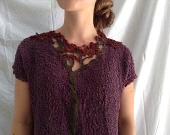 Leah Dziewit Artwear Original Handmade Silk BLOUSE