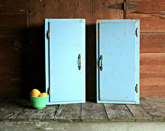 2 Vintage Wall Cabinets, Shabby Chic Wall Cabinet, Farmhouse Wall Cabinet, Wall Cabinet Kitchen, Wall Cabinet Bathroom