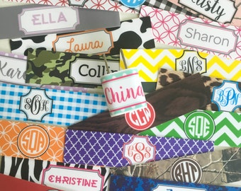 Monogrammed iPhone Charger Label