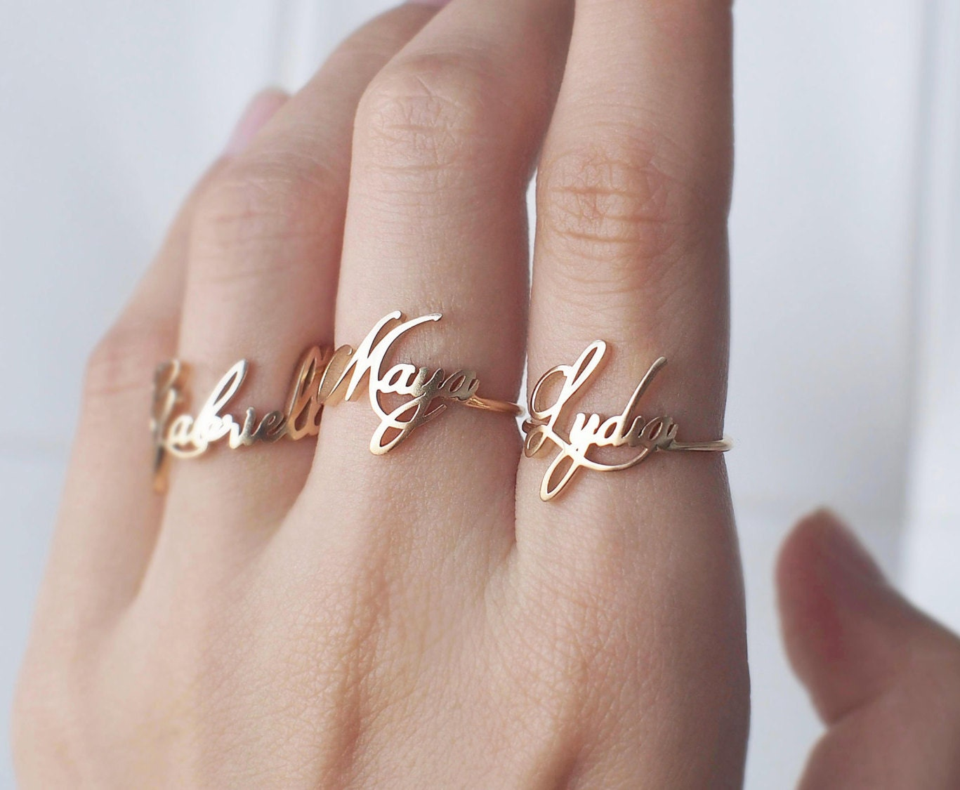 custom name ring personalized name ring your name jewelry. Black Bedroom Furniture Sets. Home Design Ideas