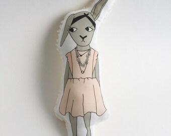 Babette the Bunny. Softie. Plushie. Stuffed Animal. Stuffed Toy.
