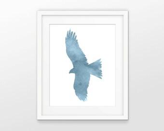 Falcon Watercolor Wall Art - Falcon Art - Falcon Decor - Bird Of Prey - Raptor - Watercolor Falconry Painting - INSTANT DOWNLOAD #2591