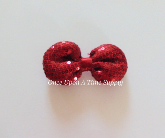items similar to dark red soft sequin bow diy headband hair accessories supplies 3 inch. Black Bedroom Furniture Sets. Home Design Ideas