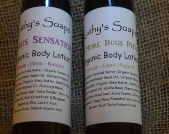 Organic Body Lotion, Vegan Lotion, Body Moisturizer, Hand Lotion, Body Lotion, gift for women, hostess gift