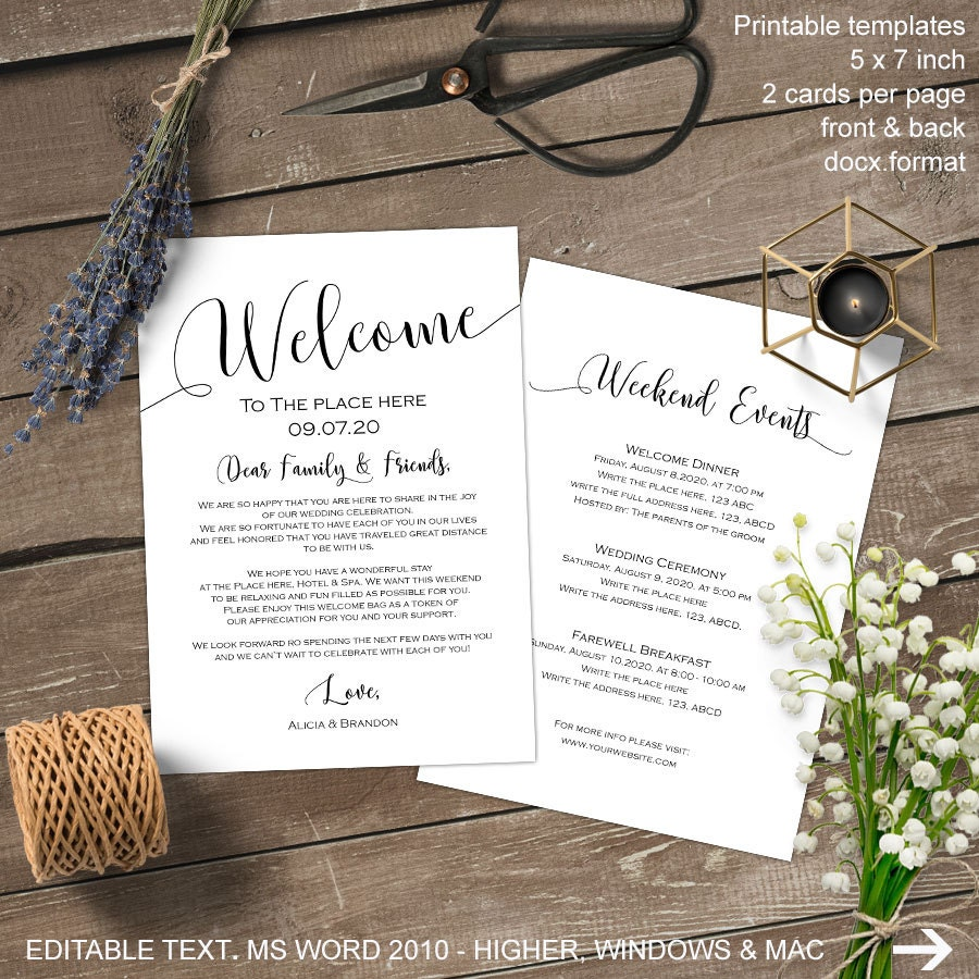 copy wedding welcome letter template word pixyte co vgmb co