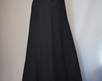 Marion Foale & Sally Tuffin  Black Boiled Wool Maxi Skirt UK8-10
