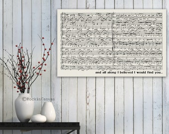 Sheet music art Overlaping First dance sheet music notes First dance wedding sheet music Mixed Media Old Music Sheet, Vintage Wall Sign
