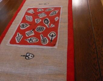 Table Runner with Robert Darr Wert Textile