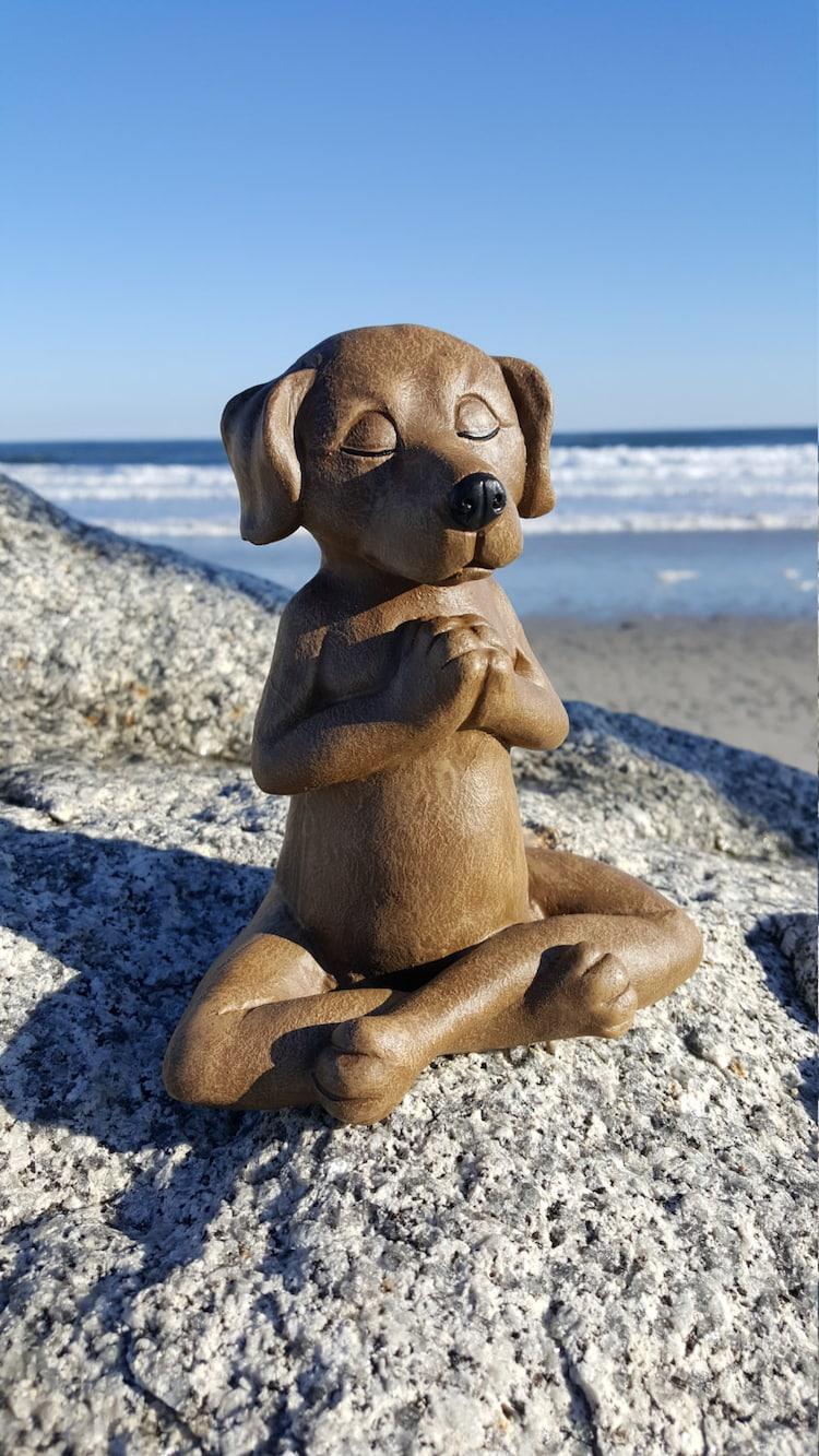 Meditating Dog Yoga Dog Garden Decor Dog Buddha by ...