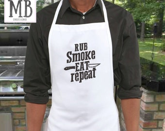 BBQ Apron, Personalized Apron, wedding gift, gift for guy, gift for him, mens apron, dad gift, mens gift,