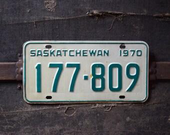 1970 Saskatchewan License Plate - 177-809