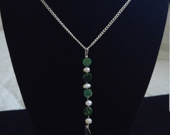 Long Chain with Long Crystal Pendant