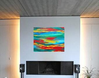 Bright Abstract Painting, ORIGINAL ART, Textured Canvas Painting, Abstract Art, Paintings, Art Collectibles, Abstract Wall Art
