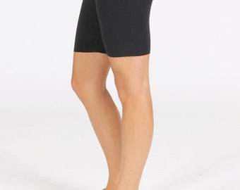 Women's Fitted Yoga Shorts - Black Stretch Cotton,Mid Rise Activewear Shorts - Ladies Fitness,Pilates Shorts - XS-S-M-L-XL.