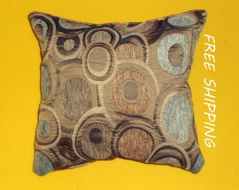 pillow, decorative pillow in beige colors, beige circles cushion