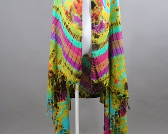 Blue Purple Oversize Scarf Unique Scarf Summer Scarf Tie Dye Scarf Psychedelic Scarf Shawl Sarong Beach Cover-up Versatile Scarf Gift Idea