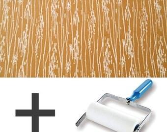 1-Colour Pattern Paint Roller STARTER PACK - Wood Grain