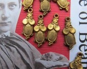 20 Tiny  Vintage Brass Mice With Hoops