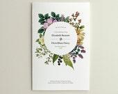 Wedding Ceremony Program / Order of Service - Vintage Floral - DIY Printable PDF Template