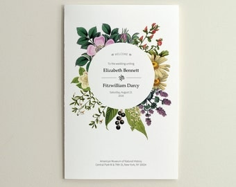 The Antique Garden / Wedding Ceremony Program / Order of Service / DIY Printable PDF Template