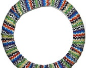 Chevron Waves Steering Wheel Cover-Cute Car Accessory-Wheel Cover-Car Decor-Steering Wheel