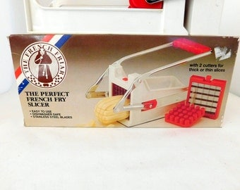 The Perfect French Fry Slicer, French Flair Kitchen, Vintage French Fry Maker