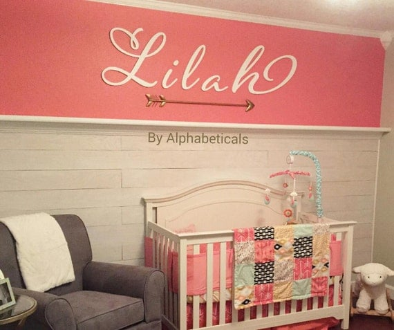 Wooden letters for nursery letters wall letters wooden signs for Large wall letters for nursery