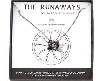 The Runaways | Ivy, Swarovski Necklace, Angel Wing Necklace, Heart Necklace, Heart Pendant, Swarovski Jewellery, Charm Necklace, Wings,