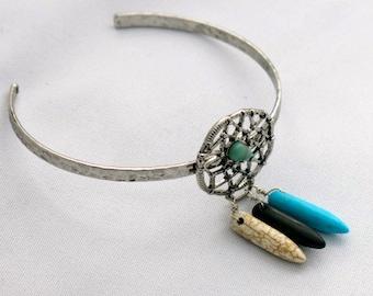 Upper Arm Bracelet, Bohemian Upper Arm Bracelet, Arm Cuff, boho Arm Cuff, Howlite Upper Arm Bracelet