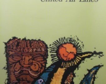 Original 1967 United Airlines Poster Advertising Travel to Hawaii