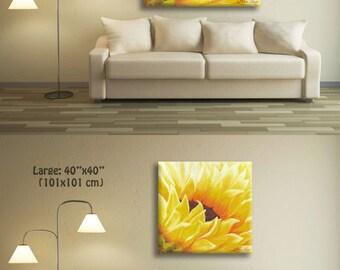 Landscape Art Print, Landscape Art, Sunflower Abstract Art Print, Office Decor, Office Art, Office Wall Art, Family Room Decor
