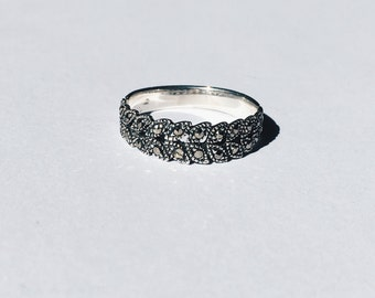 Sterling siver ring with marcasites