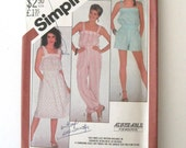 1980s Jumpsuit Romper or Sundress Pattern, Simplicity 5535, Womens Easy Sleeveless Blouson Sewing Pattern, Misses 6-10 Bust 30.5-32.5 UNCUT